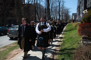 The procession from King's College to the ceremony.